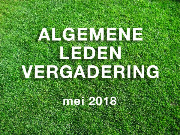 Algemene Ledenvergadering mei 2018