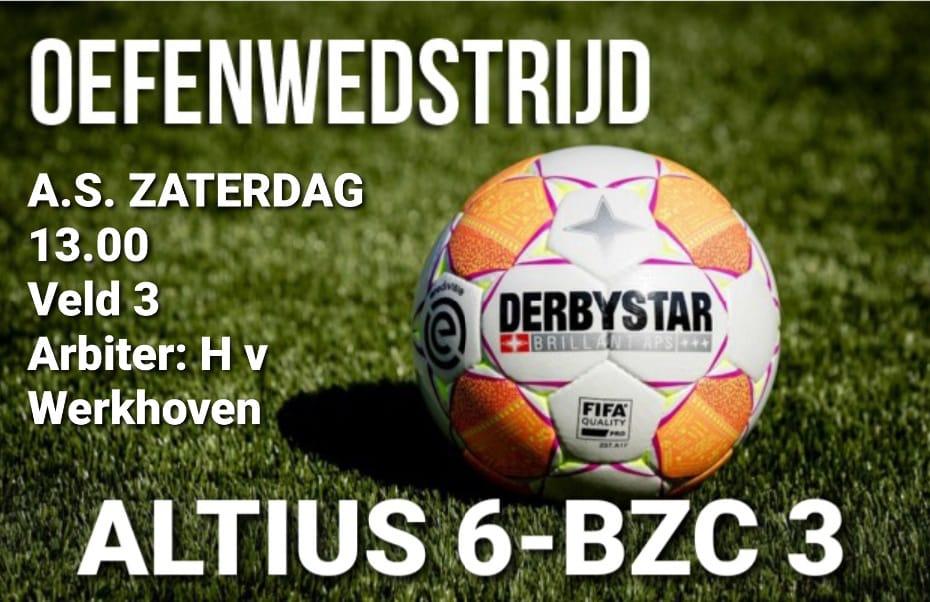 Altius 6 opent seizoen tegen BZC